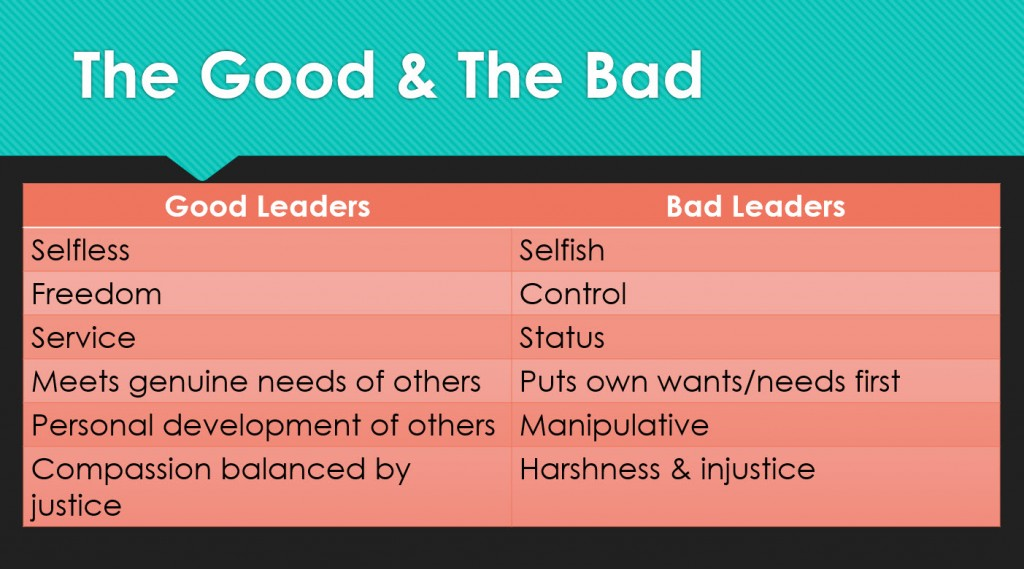 Good and Bad Leaders